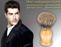 best badger brush - Men Shaving Brush Badger Hair Wooden Handle Home Use Barber Tool Best BADGER Hair Shaving Brush