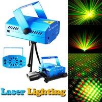 Wholesale Blue Mini Laser Stage Lighting Projector R G DJ Disco Light Stage Xmas Party Laser Lighting Show Dance Floor Lights