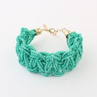 Wholesale New Fashion Brand Jewelry Bohemia Style Retro Bead Multicolor Charm Vintage Love Cuff Women Bracelets Bangles
