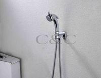 bidet for toilet - Single Handle Chrome Handheld Shattaf Bidet Sprayer Gun With Water Flow Valve And cm Hose For Bathroom Toilet A801H