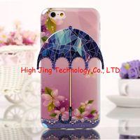 Wholesale 3D Umbrella Cartoon tpu soft case with IMD blue light For iphone Bear Flower Comic hybrid Animal Leaf TPU case for iphone