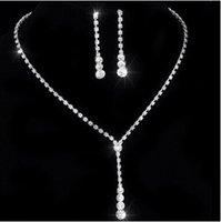 Brand Design bijoux en cristal nuptiale set 925 plaqué or boucles d'oreilles en diamant bijoux de mariage ensembles pour les demoiselles d'honneur femmes