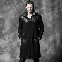 bats trench - Fall Steel master Steampunk coat GOTHIC leather trench coat Gothic Bat Goethe aristocratic wool coat