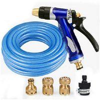 Cheap @Copper high pressure car wash gun head set water pipe household washing tools copper water gun blue water pipe copper connector