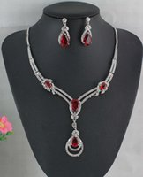 Wholesale 2015 New arrival charm african silver plated party jewelry sets Romantic Bridal Fashion Necklace Vintage Bridal Women Jewelry Sets