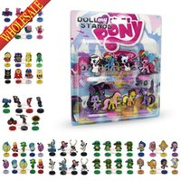 Wholesale A set of My Little Pony Inside Out Despicable Me Avengers Bubble Guppies Spring Mini PVC Figure Doll Stand Cartoon Decoration Party Supplies