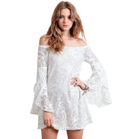 china clothes - 2016 New Style Summer Dress Vestido De Renda Cheap Clothes China Off Shoulder Dresses Hippie Boho Vestidos White Lace