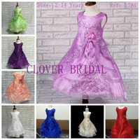 dress factory - Factory Pageant Ball Gowns For Girls Dress New Turquoise Flower Girl Dress Plus Size Kids Evening Dress Low Price