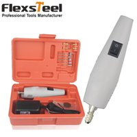Wholesale Flexsteel Mini Coldless Electric Power Grinding Drill with Rechargeable Chucks Electric Carving Chisel Drill Set Speed Control