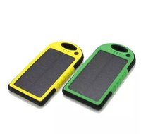 Wholesale 2015 hot sale mAh Solar Charger and Battery Solar Panel waterproof shockproof portable power bank for Mobile Cellphone Laptop Camera MP4
