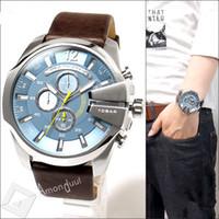 Wholesale Fashion new Design Brand DZ Watch Real Leather Strap Wristwatches Men Sport Military Quartz Watch DZ4281 Relogio Masculino