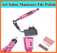 Wholesale 1set Pen Shape Electric Pedicure Nail Drill Machine Art Salon Manicure File Polish Tool File Bit Acrylic