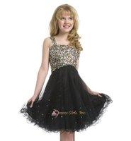 Cheap Girl's Pageant Dresses PRE-TEEN Flower children dress shinning beads sequins ball gowns