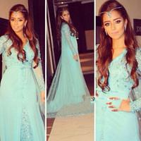 women islamic clothing - 2015 Elegant Long Sleeve Evening Dresses Muslim Maxi Arabic Evening Gown Islamic Clothing For Women Dubai Kaftan Dress For Prom Party