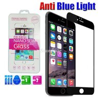 anti glare screen filter - For Iphone S s Plus D Round Edge Blue Light Filter Anti Scratch Tempered Glass Screen Protector
