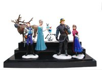 Wholesale New movie Elsa Anna Figurine Play Set Doll Cake Topper Toys Figure Princess Gift in set