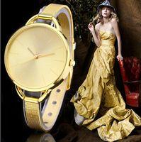 Wholesale 2015 New Fashion Gold Watch Luxury Brand Women Dress Watches Quartz Casual Watch Wristwatch Clock Relogios Femininos Reloj Mujer