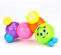 Wholesale Kids Baby Developmental Educational Toy Lovely Colorful Caterpillar Wind up Toys GM255