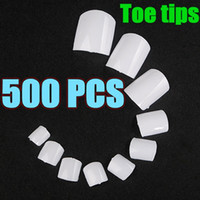 acrylic toenail designs - set Acrylic White French False Gel Toe Nail Art Tips Design Salon Manicure Toenail DIY Tools