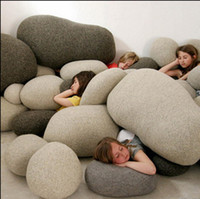 Wholesale Novelty D Living Stone Gray Throw Pillows Pebble Sofa Cushion Toys For Kids Bedroom Home Decor Gifts set