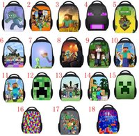 Wholesale 18 Styles Minecraft bags New Minecraft backpacks Creative My World Schoolbags Unique Creeper Bags Cartoon kids schoolbags