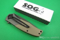 bowie knives - SOG FA02 Folding blade Microtech pocket knife G10 handle Tactical Survival knife Bowie camping hunting knife knives with retail