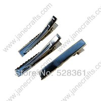 Wholesale 100PCS mm Inch Rectangular Alligator Clips with Teeth in Royal Blue Tone Boutique Hair Accessory