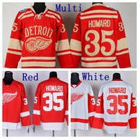 Wholesale 2014 Winter Classic Jimmy Howard Jersey Detroit Red Wings Hockey Jerseys Home Red White Jimmy Howard Stitched Jersey Cheap