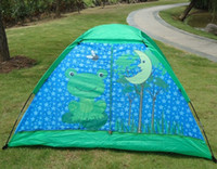 Wholesale Christmas Gift Frog Child Tent Kids Game House camping tents kids Green Children Toy Tent Foldable Bag Carrying Indoor Outdoor