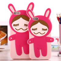 silicone sexy dolls - Hot The Japan Pear Flower Doll Case for iphone plus G S S Cartoon Sexy Girl Silicone Back phone Cover Protective Rubber Bag Shell
