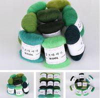 Wholesale DIY Needle felt s wool felt poke fun soft feeling Wool Tops Roving DIY Spin quot green monster series quot g