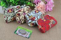 Wholesale 2017 New Coin Purses cartoon owl Hasp zero wallet lady canvas small change purse