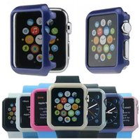 Wholesale Multicolor Apple Watch Hard Case Frame For Apple Watch mm mm iWatch Smart Watch Protection Case with retail package