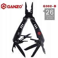b functional - New Stock Black Color Ganzo G302B G302 B Ganzo Multi Pliers quality multi camping tool without box