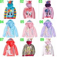 Wholesale new color Kids Cinderella coat jacket sportswear my little pony Hoodies outwear girl Sweatshirt hooded Clothes jumper outerwear BBA4186