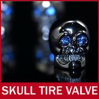 bias truck tyre - 1set Luxury Car Van Truck Bike Motorcycle Chrome Skull Tire Tyre Valve Caps Dust Covers Stem JP Wheel decoration