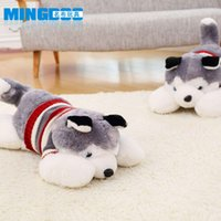 Wholesale Plush toy dog doll husky doll lying edition Valentine s Day special birthday gift grant children