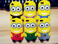 Wholesale Hot Silicone Material Despicable Me Yellow Minion Cover For iphone4 s Case For Apple iPhone4S Protection Cell Phone Shell