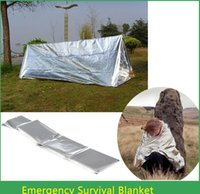 Wholesale Outdoor Emergency Rescue Survival Blanket Life saving Military Blanket CM Saving Blanket Free DHL Fedex