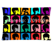 beatles members - The Beatles Member Art x75cm Pillow Cover Cheap Pillowcases For Sleeping One Side Printed