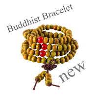 Cheap BEST Brown 5PCS HOT 108 Sandalwood Buddhist Buddha Meditation 6mm Prayer Bead Mala Bracelet Necklace