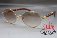 Wholesale Vintage Wooden Sunglasses Larger Glasses Size mm