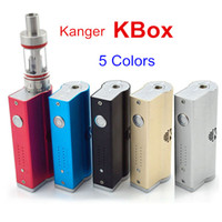 Wholesale High quality kanger kbox box mod colors kangertech e cigs kbox w fit subtank mini atlantis vaporizer kanger subox mini nebox subvod kit