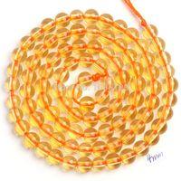 "Cheap Wholesale-Free Shipping 4.6.8.10mm Pretty Natural Citrine Quartz Round Shape Loose Beads Strand 15"" Jewelry Making wj109"