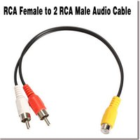 av audio splitter - Useful RCA Female Jack to RCA Male Plug Y Splitter Audio Video AV Adapter Cable