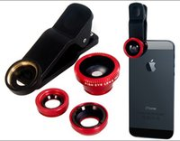 Wholesale cheap deal by DHL in Universal Clip Fish Eye Wide Angle Macro Phone Fisheye Lens For iPhone Samsung