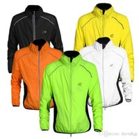 Wholesale WOLFBIKE Tour de France Cycling Jersey Men Riding Breathable Jacket Cycle Clothing Bike Long Sleeve Vest Wind Coat Colors
