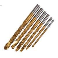 Wholesale 6pcs set Drill Saw Set HSS Steel Titanium Woodworking Wood Saw Drill Wood Drill Bits