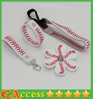 Wholesale 25pcs baseball seam headband baseball seam hair bow baseball seam keychain baseball seam bracelet