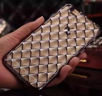 apple ladies case - For Ladies Girls Fashion D Diamond Lattice Pattern Colorful Plated Metallic Texture Soft TPU Case Cover For iphone s s Plus